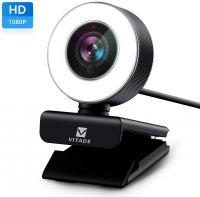 Video kamera HD 1080P with Microphone & Ring Light Vitade USB Pro - rent