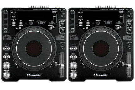 DJ CD Players Pioneer CDJ-1000mk3 rental (pair)