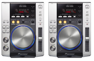 DJ CD Players Pioneer CDJ-200 rental (pair)