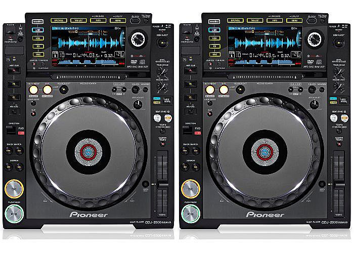 DJ CD/DVD/Media Players Pioneer CDJ-2000 rental (pair)