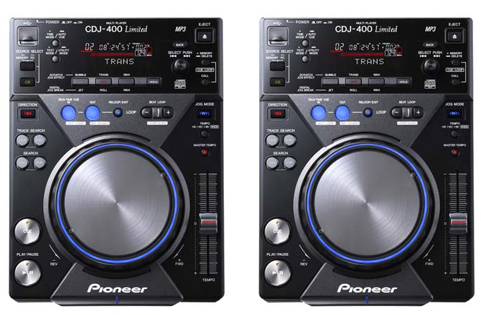 DJ CD players Pioneer CDJ-400 rental (pair)