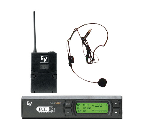 ElectroVoice RE2 headset wireless microphone rental