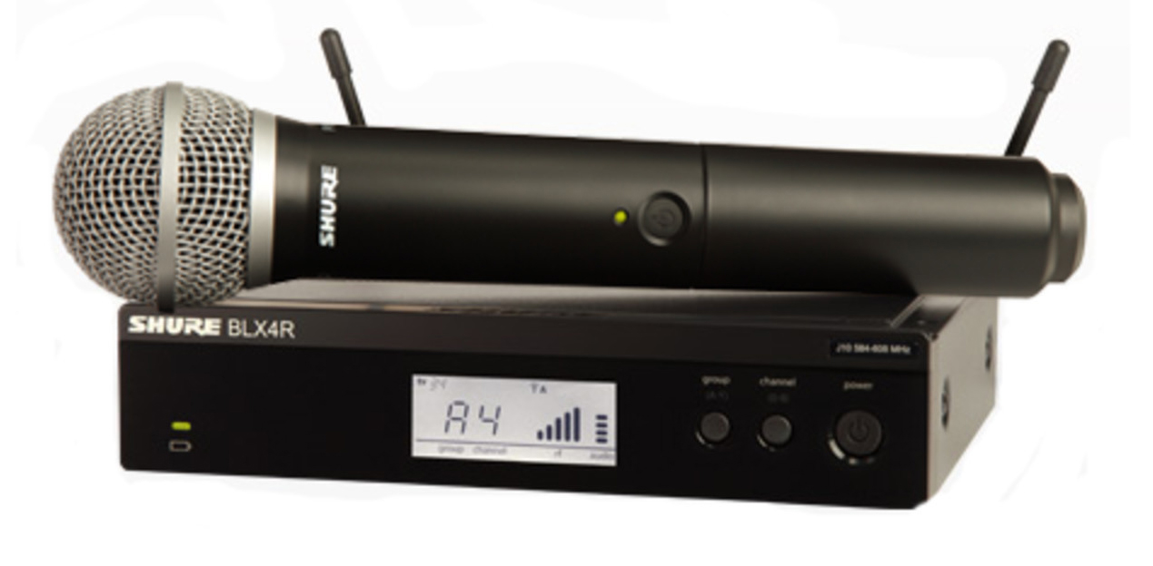 Wireless microphone SHURE BLX24RE/PG58 hire